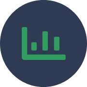 Measurable carbon offsets solution icon
